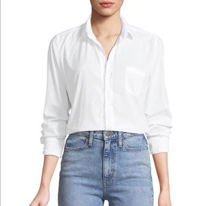 Frank & Eileen white button down top (large)